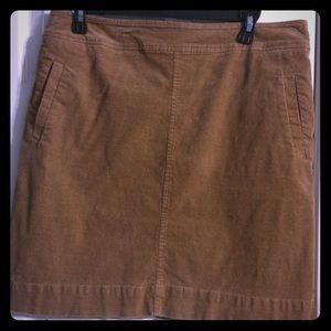 Talbots Tan Corduroy Skirt-12P